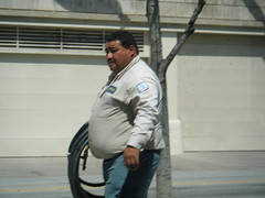 City worker - Alejandro (I.E. Bear II) Tags: man guy beer gut big random fat chub dude belly bubba beerbelly chubby thick gordo bellies panza panzon pansa stocky panson