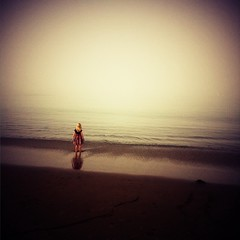 """""""The Girl Who Made Me Believe in Magic"""" (Sion Fullana) Tags: ocean sanfrancisco california painterly beach water colors beauty fog squ"""
