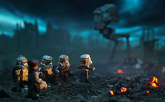 Stormtrooper RIP (Shobrick) Tags: world city fiction sky cloud dark fire star lego smoke apocalypse science ashes scifi end stormtrooper wars custom destroyed at shobrick flickrsfinestimages1