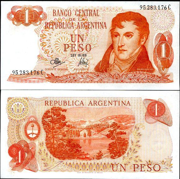 1 Peso Argentína 1970-73, P289