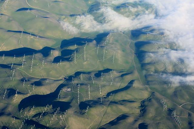 Wind turbines & fog