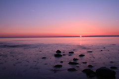And the sun goes for another day (Connor Scanlon) Tags: ocean sunset sea sun water birds set sand long slow stones wildlife cumbria manual reflexions hdr density exsposure slowmotion neutral irishsea furness apeture nd8 nd4 walney colorphotoaward