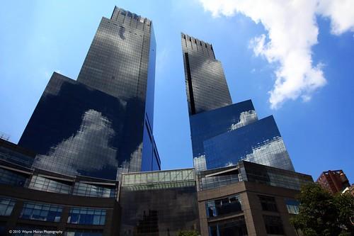 New York City Skyline : Reflecting Clouds