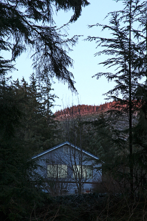 house, sunset, Kasaan, Alaska