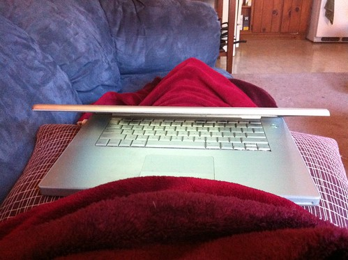 Laptop on lap