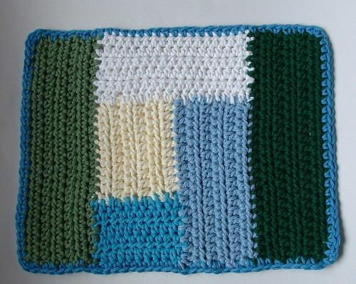 Log Cabin Scrap Dishcloth