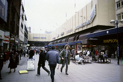 Market Street and the Arndale Centre, 1989