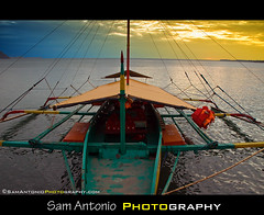 The Slow Boat from Guimaras Island (Sam Antonio Photography) Tags: travel blue sunset sea sky seascape color beach water yellow boat colorful asia southeastasia outdoor philippines nopeople transportation filipino lifejacket guimaras watertaxi travelphotography superzoom pumpboat visaya travelasia tropicalclimate canon50d westernvisayas colorfulimage guimarasisland nauticalvessel tamron18270 philippinestransportation samantoniophotographycom tamron18270lensreview guimarasboat tamronlensreview tamronaf18270mmf3563diiivclensreview