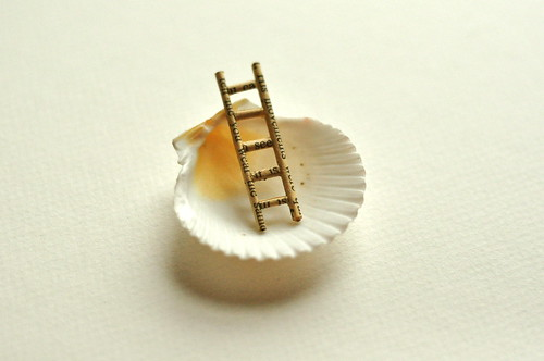 altered book ladder