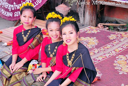 Young Thai Dancers -- Bosong Umbrella Festival -- Bosong Village, Thailand