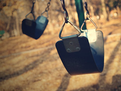 what life is about (Flashback.Photography) Tags: park brown black color fall playground set photoshop vintage season texas play action tx seat swings rita corinth coffeeshop ground down olympus swing adobe sit swingset swinging process processed zuiko 520 actions zd 1454mm f2835 cs5 e520