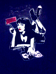 Mia Wallace (Smeerch) Tags: street fiction streetart rome roma pasteup art arte mia pulpfiction wallace pulp adhesive aerosolart pasteups miawallace adesivo adesivi adhesives risinglove