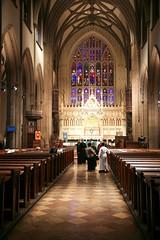New York City, Lower Manhattan, Financial District : Trinity Church, 1846.