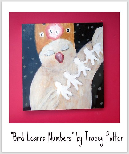 """Bird Learns Numbers"" Print"