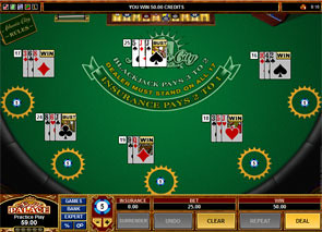 Multi-Hand Atlantic City Blackjack Win