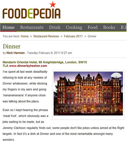 Foodepedia's Amended Review