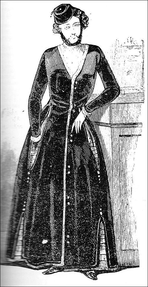 1844 fashion for men : a velvet dressing-gown for men