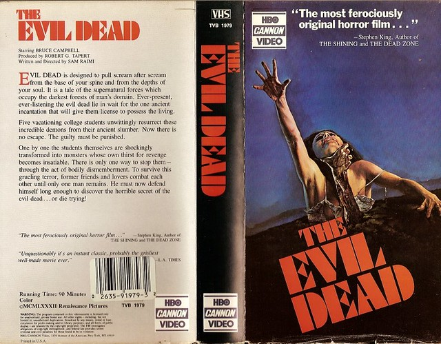 Evil Dead (cover 2) (VHS Box Art)
