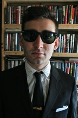 SKOLNICK (louisbickett) Tags: portrait man male artist lexington ky library books sexyman hotboy sexyboy hotman skolnick meninsuits meninglasses archivelouiszoellarbickett louiszoellarbickett aaronmichaelskolnick aaronskolnick