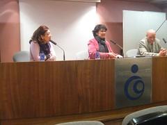 La presidnete del Foro Ermua, Inma Castilla de Cortázar en La Coruña el 10 de febrero de 2011
