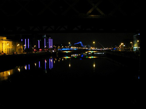 River Liffey in Dublin at Night