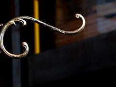 Hang up your hangups! (Marcia Portess) Tags: metalwork hook mundanedetails
