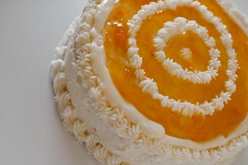 Peach Schnapps Layer Cake