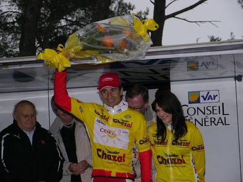 David Moncoutié - Arrivée Tour Med au Faron - Toulon  - février 2011 - P1000553