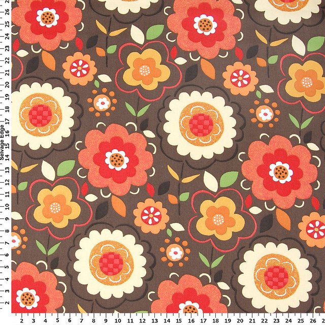 Spring Flowers/Brown