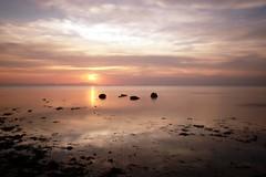 Sunset (orangebrompton) Tags: longexposure sunset red sea sky reflection beach cambodia kep nd110