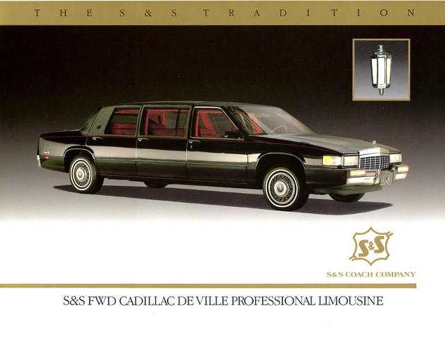 ss cadillac 1992 deville brochure limousine 6door