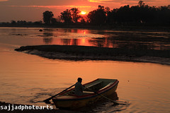 Sunset (sajjadphotoarts) Tags: light sunset weather river golden ravi canon40d sajjadphotoarts gettyimagespakistanq12012