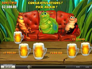 free Happy Bugs slot beer bonus