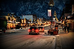 Banff Evening (brittdirk) Tags: winter canada alberta banff rockymountains canadianrockies