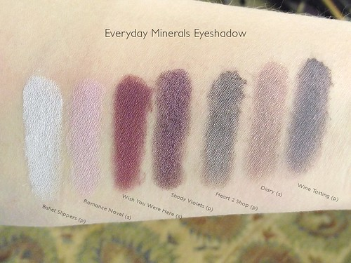 Everyday Minerals Purple Eyeshadow Swatches