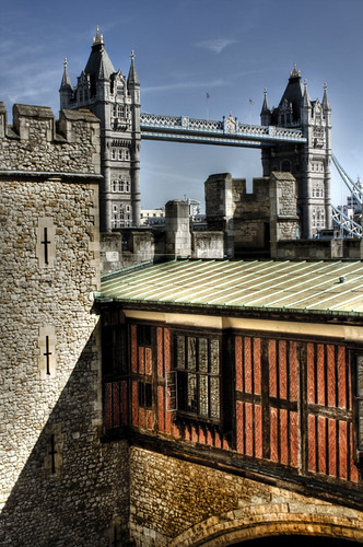 The Tower Bridge from the Tower. London. El Puente de la Torre desde la Torre