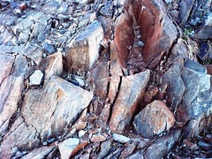 2162 - Rock Outcrops Near Globe Arizona (AZProspector) Tags: outcrop cliff southwest color texture nature rock vertical stone dark landscape outdoors sandstone scenery rocks natural background country gray hard scenic rocky ground s dirty cliffs hills formation climbing boulders granite mineral bleak weathered rough geology bluffs sedimentary rugged textured formations ariz outcropping carbonate geological southw