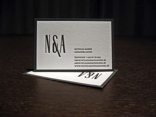 Beau Refined Letterpress Business Cards   Nu0026A