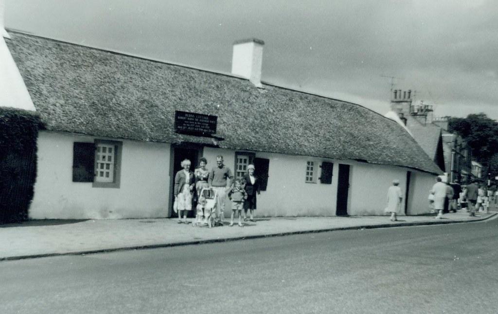 McCreath family at Burns Cottage 1963