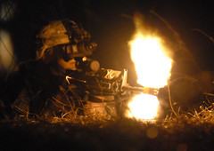 Returning fire (The U.S. Army) Tags: woods cavalry weapons gunfire reconnaissance jointoperations 82ndairbornedivision joax