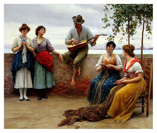 003-La serenata-Eugene de Blaas  1910