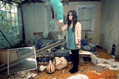(jesiiii) Tags: house color green abandoned bright smoke bomb urbanexploring ue urbanex