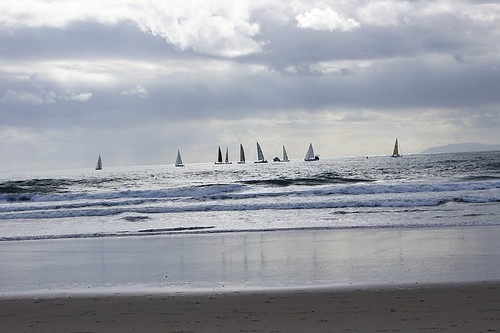 Beach: Sail boats