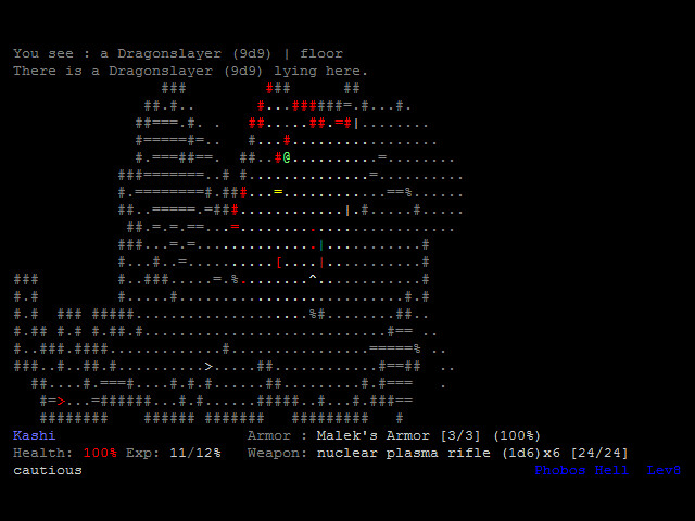 DoomRL 0.9.9.2, by Kornel Kisielewicz