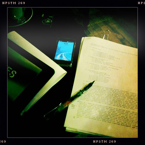 Dessert and writing at Clowns
