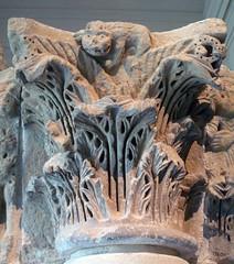 Camarasa Historiated Capitals with detail of little demon