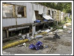 TRAILER PARK TRASHED (akahawkeyefan) Tags: park homes abandoned mobile dave trash des mailboxes trailer meyer moines