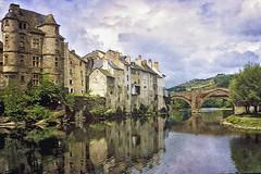 Village aveyronnais (rogermarcel) Tags: bridge texture river landscape village rivière pont paysage francelandscapes pareeerica mygearandme
