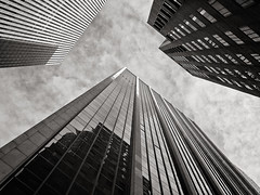 an old favorite, revisited | midtown manhattan | 2011 (davemacintosh) Tags: nyc blackandwhite touchthesky