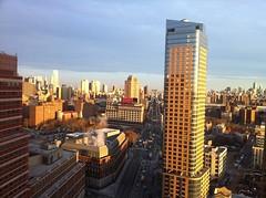 Sunrise on Downtown NYC View from Toren Brooklyn (RaySorin) Tags: brooklyn toren manhattan manhattanbridge flatbushavenue oro iphone3gshot